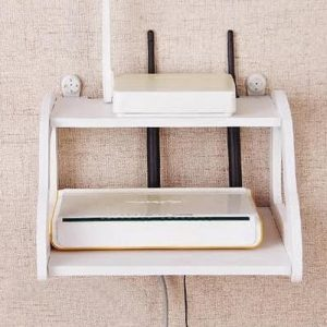 Double Layer Wall Mounted Router Stand