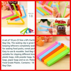 18Pcs Food Clips