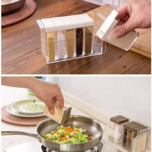 6Pcs Spice Rack